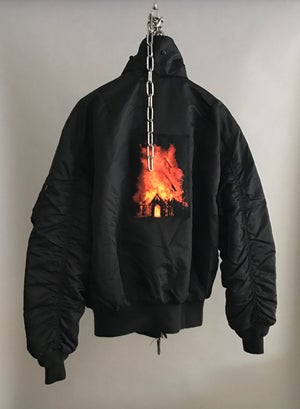 "Image of ""Burn it Down"" Bomber Jacket (1of1)"