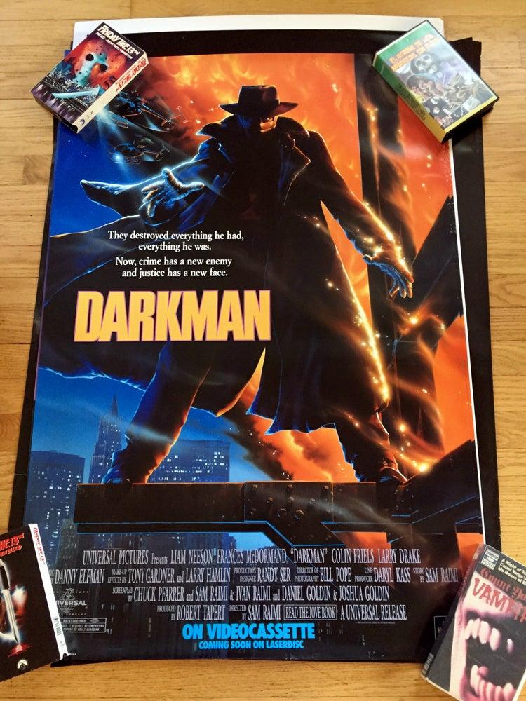 Image of 1990 DARKMAN Original Promotional Video Movie Poster