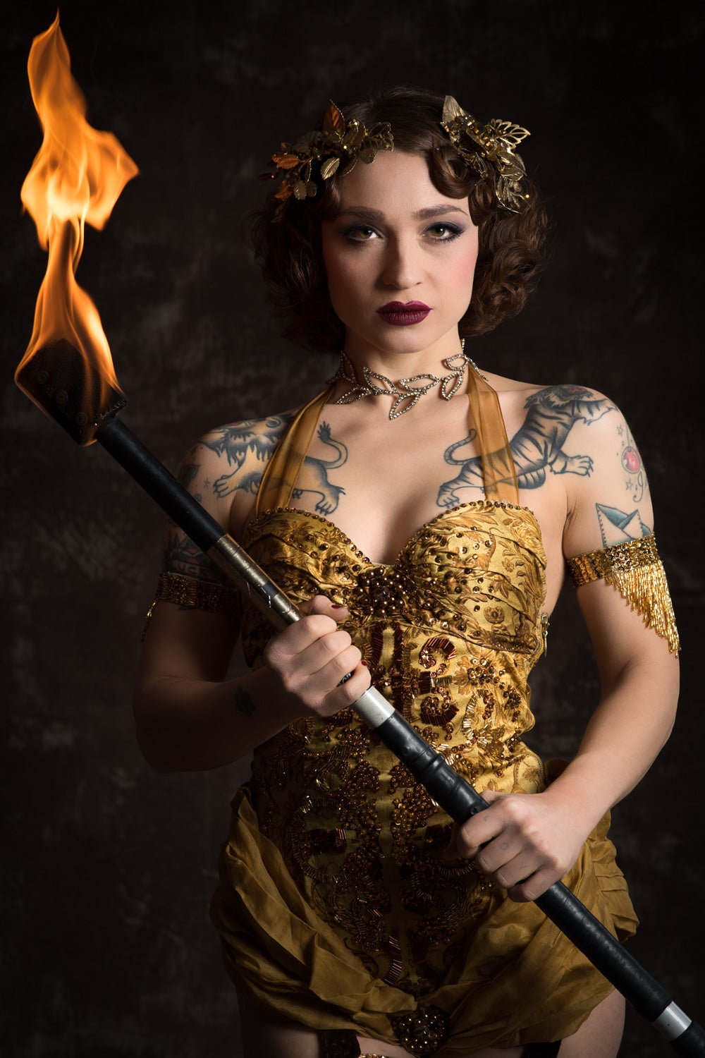 "Image of Janet Fischietto as ""The Fire Goddess"""