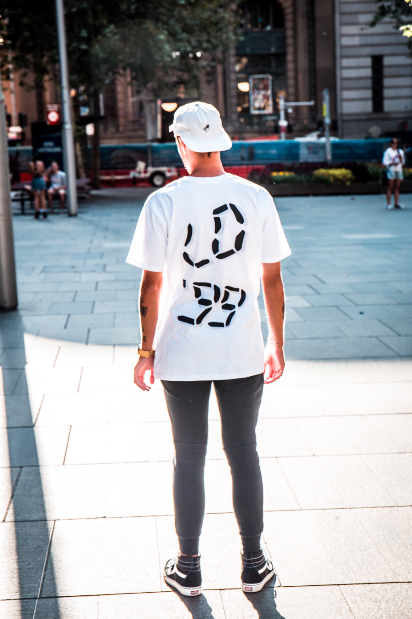 Image of LO'99 BLACK ON WHITE TEE - LIMITED EDITION