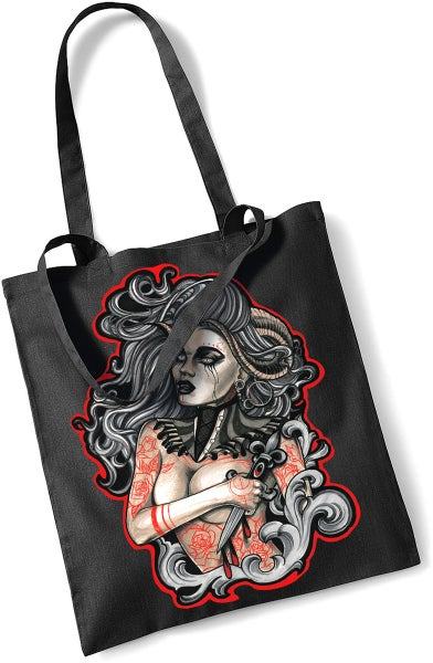 Image of ANASTASIA GRICHINA DEMON TOTE BAG