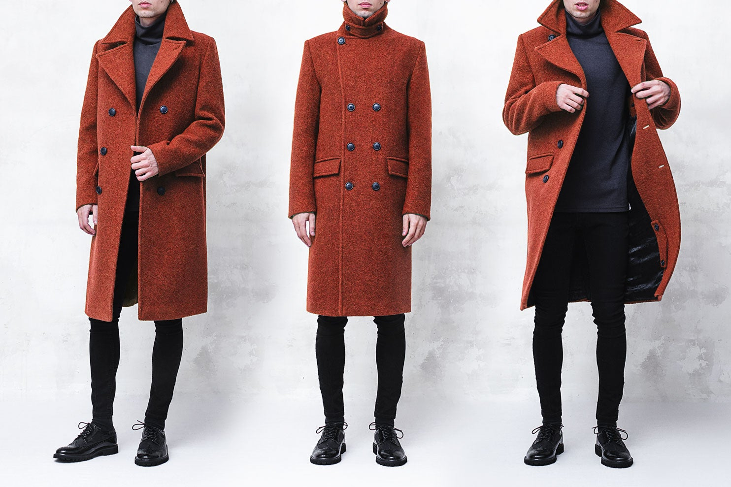 Image of LIMITED EDITION | Neon Orange Wool-Blend Bouclé Overcoat
