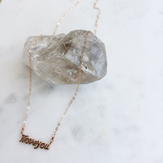 """Image of """"I love you"""" Necklace"""