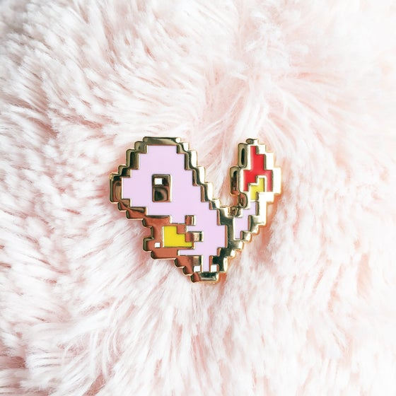 Image of 8bit Charmander Enamel Pin