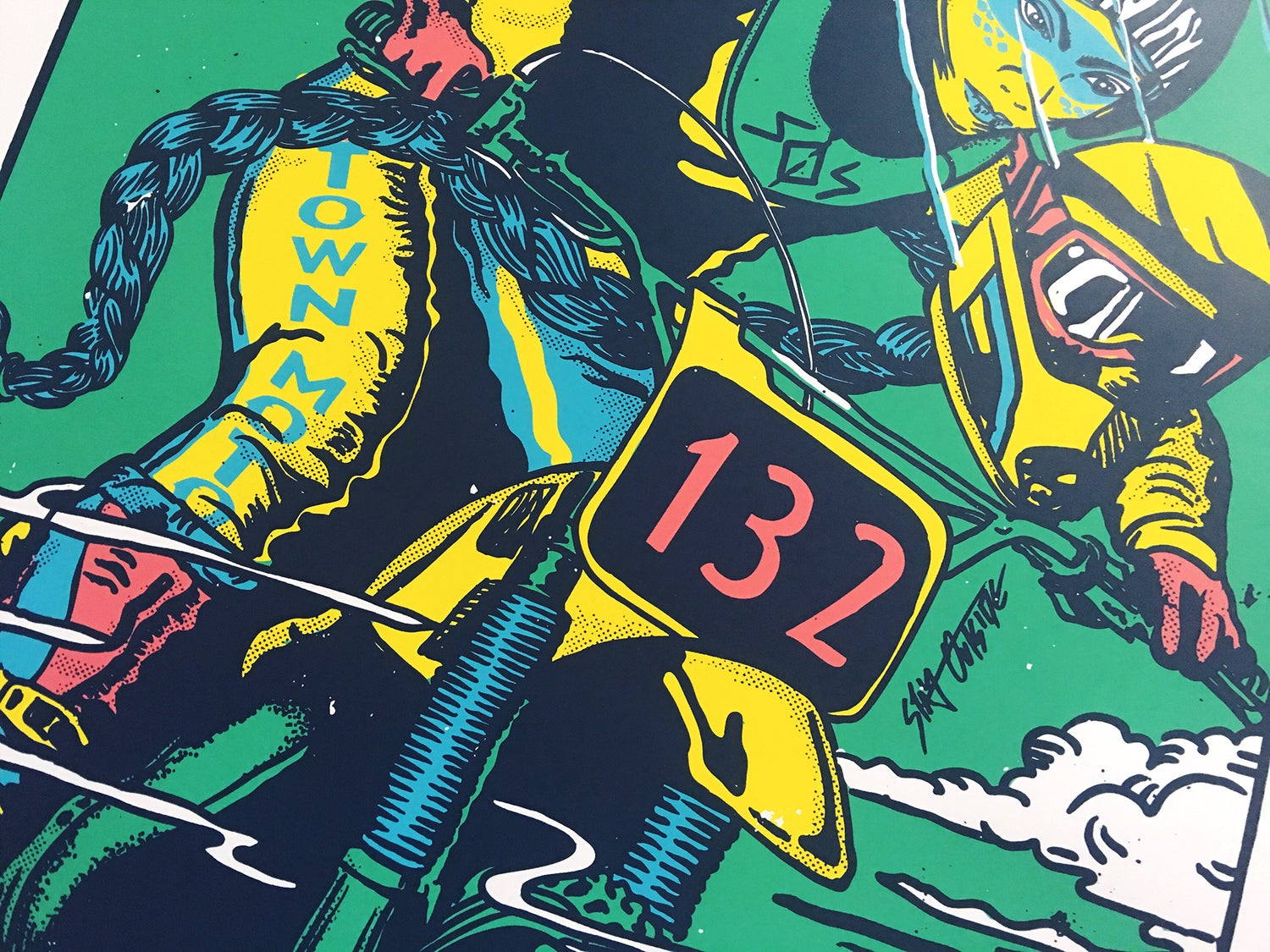 Image of Town Moto + Stay Outside - MX Braids - large Screen Print