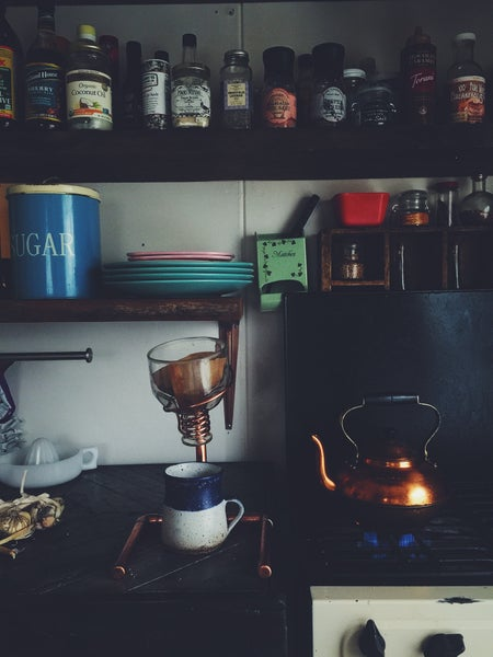 Image of Custom Copper Drip Coffee Stand