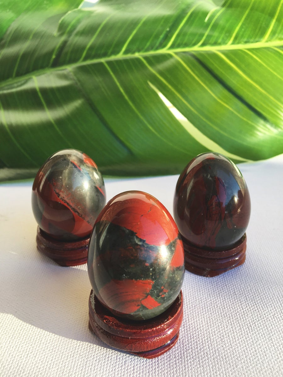 Image of African Bloodstone Yoni Eggs • Large
