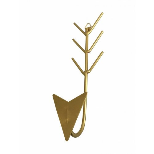 Image of Metal arrow hanging hook in gold