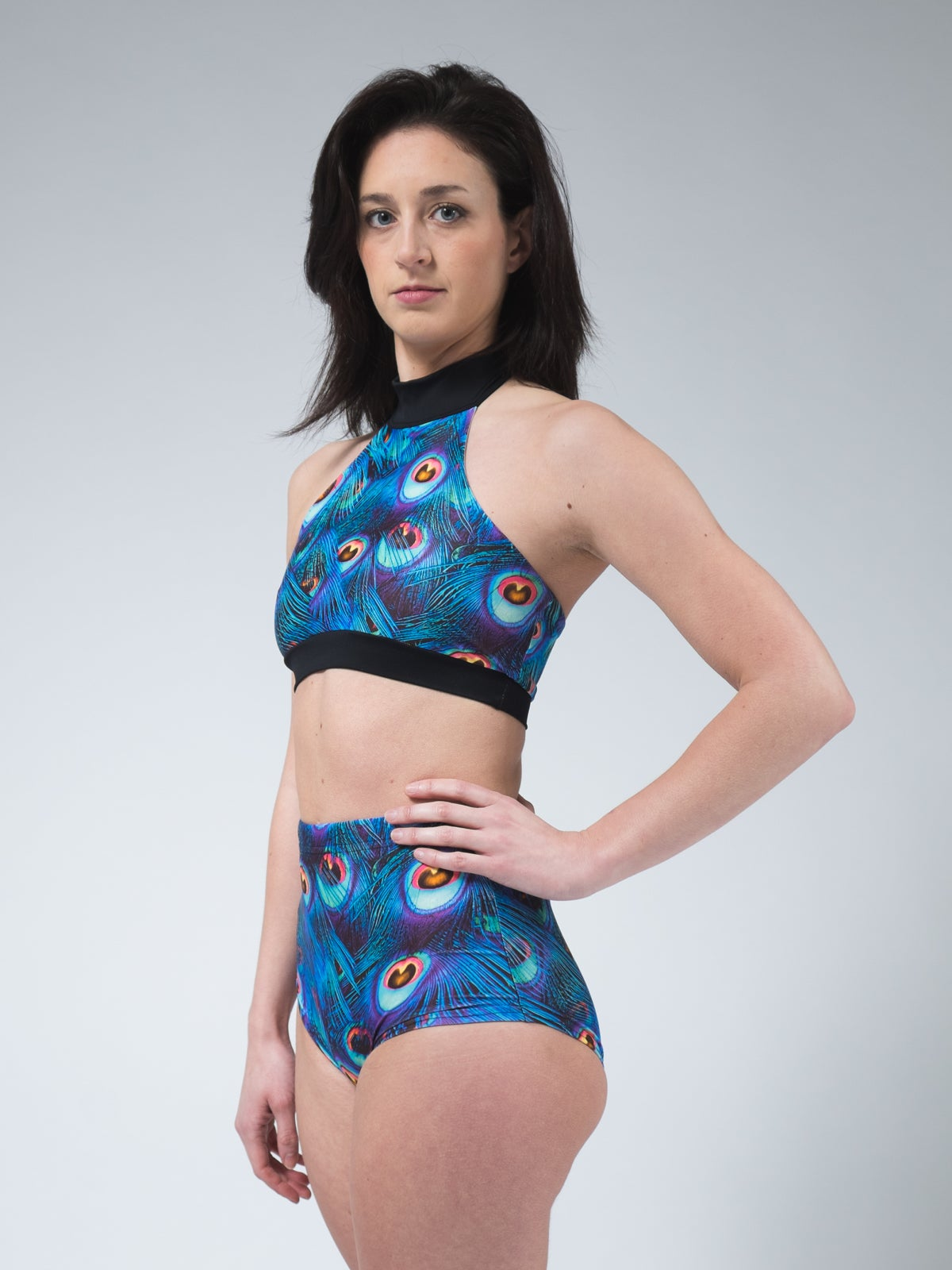 Image of Peacock High-waisted Shorts
