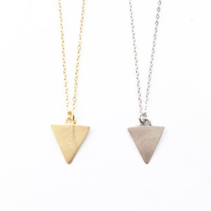 Image of Triangle Necklace - matte gold / silver plated available