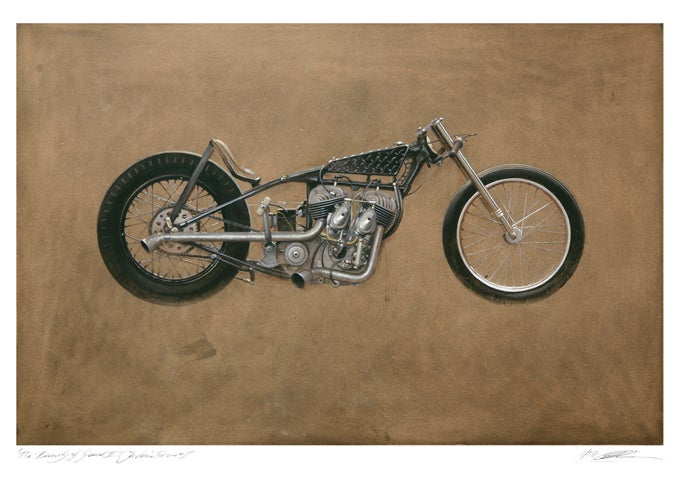 Image of 'The Beauty of Speed II (Indian Scout)'