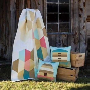 Image of Beetopia Honeycomb Bed Quilt Pattern