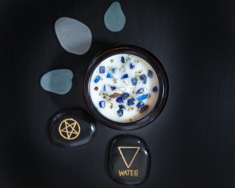 Image of W A T E R (amber jar)
