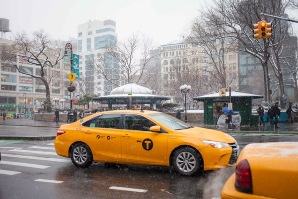 Image of Cab in the Snow 2