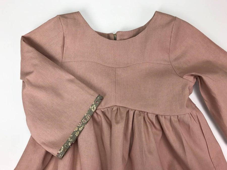 Image of Rose Gardenia Dress- Linen/Cotton Blend- SS17
