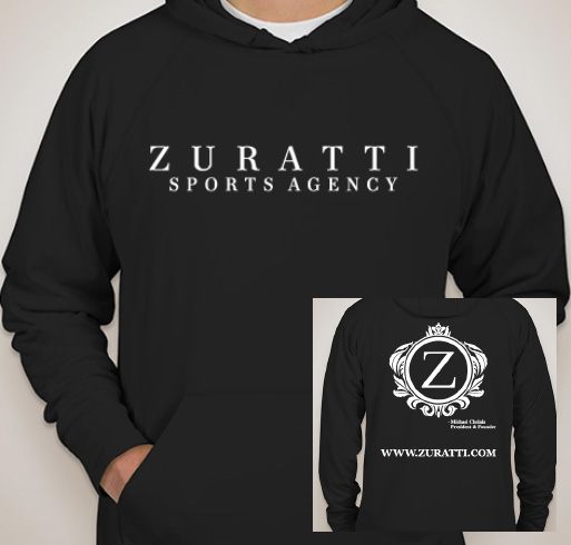 Image of Zuratti's UNISEX Performance Hooded Sweatshirt (Black)