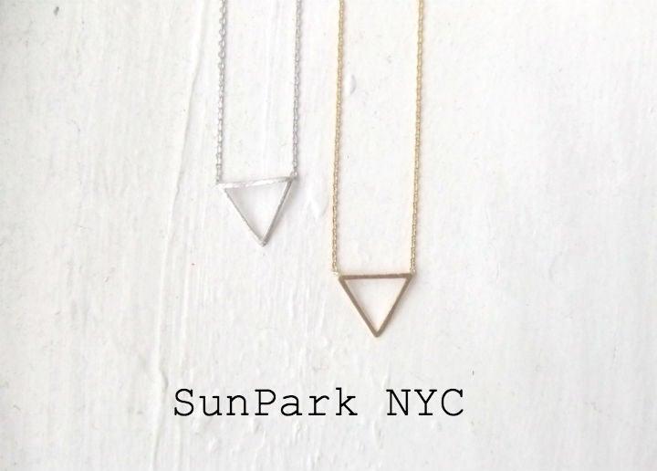 Image of Petite Triangle Necklace
