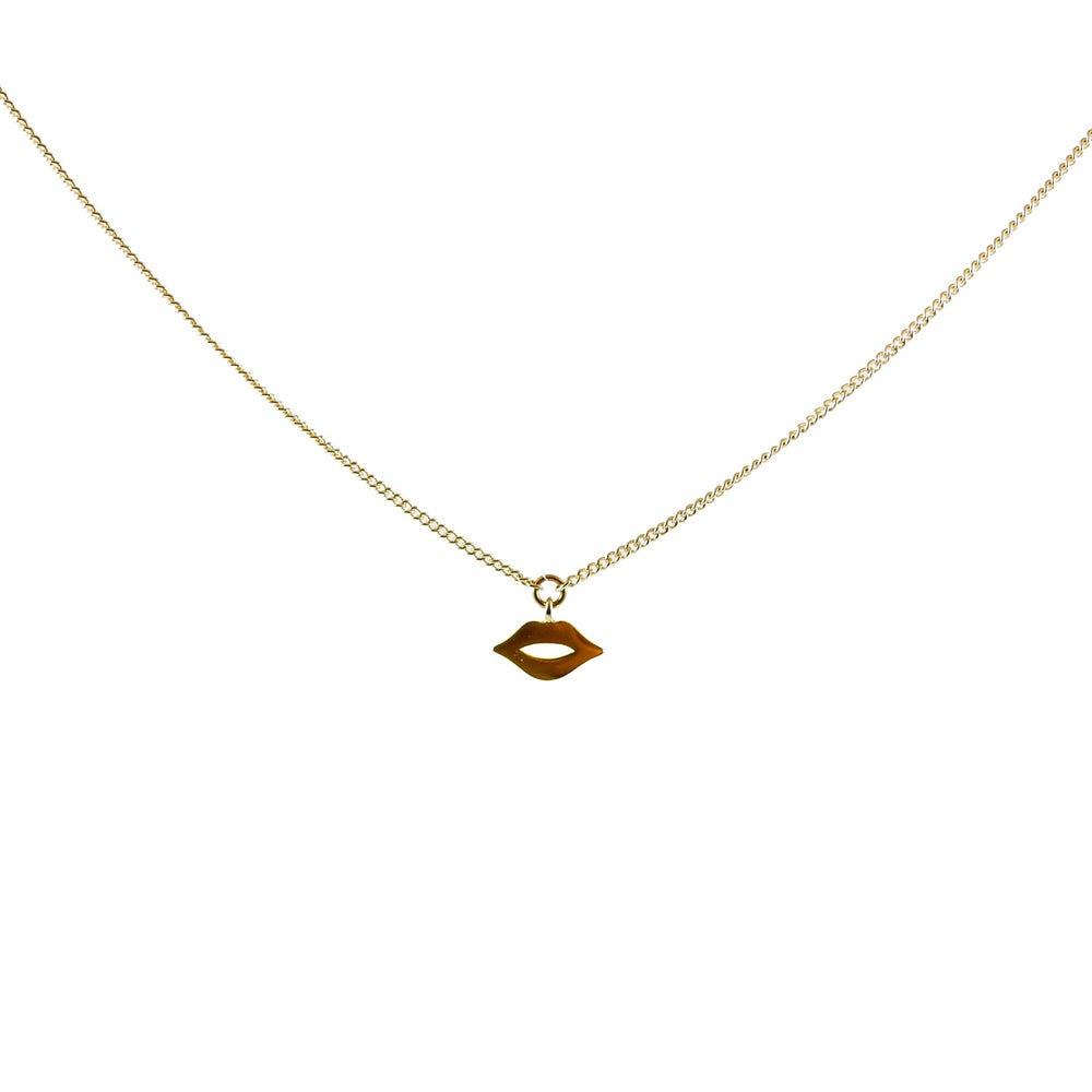 Image of Collier Choker Lips Plaqué Or