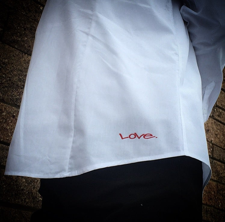 "Image of ""Love...period!"" Button-Up (black option inside also)"