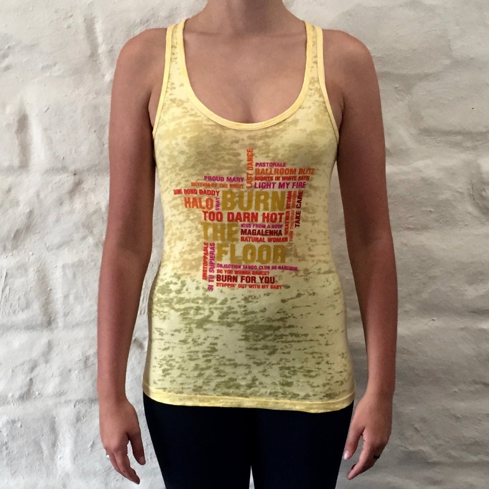 Image of Women's Song Singlet - Yellow