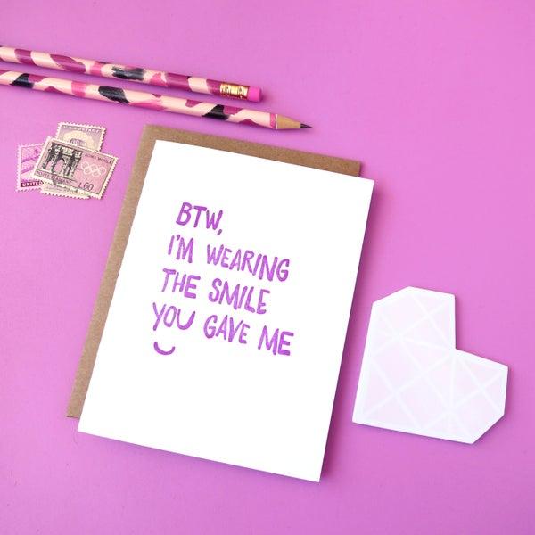 Image of smile letterpress card