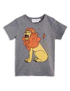 Image of Lion SP SS tee, Grey melange, MINI RODINI