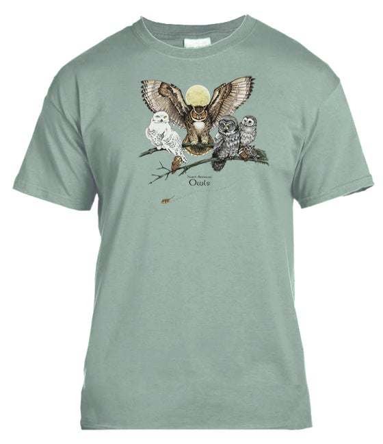 Image of  North American Owls t-shirt