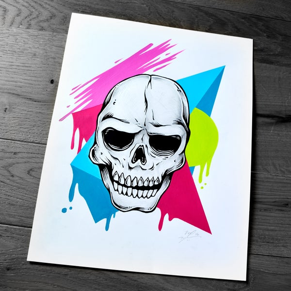 Image of Skull Geometric Study (Original Drawing)