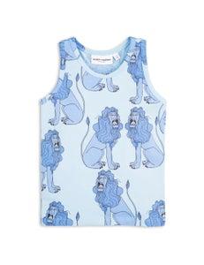 Image of Lion tank top, Light blue, MINI RODINI