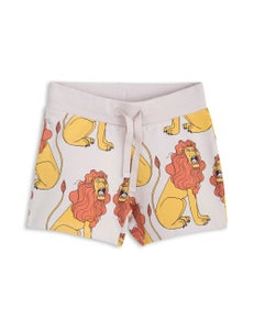 Image of Lion sweatshorts, Light grey, MINI RODINI