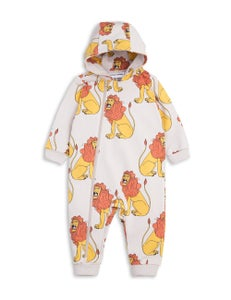 Image of Lion onesie, Light grey, MINI RODINI
