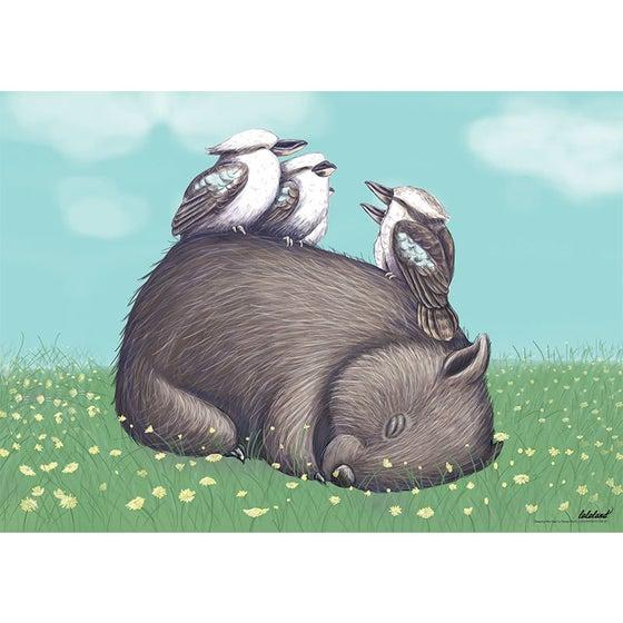 Image of Sleeping wombat poster