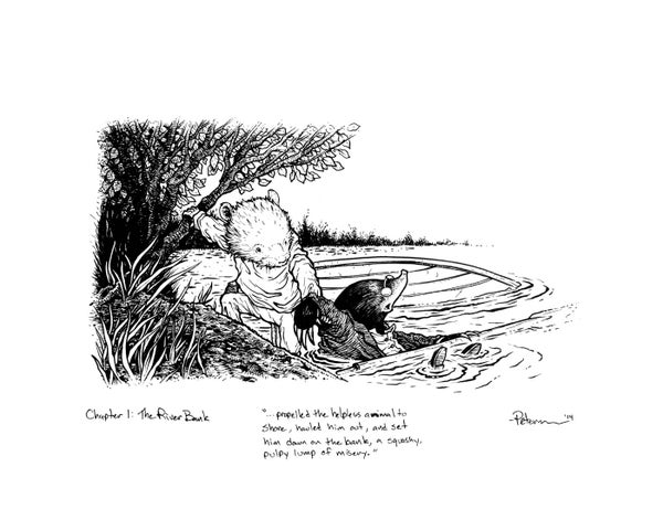Image of Wind in the Willows pg 13 Original Art
