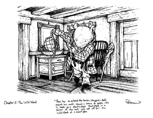 Image of Wind in the Willows pg 34 Original Art