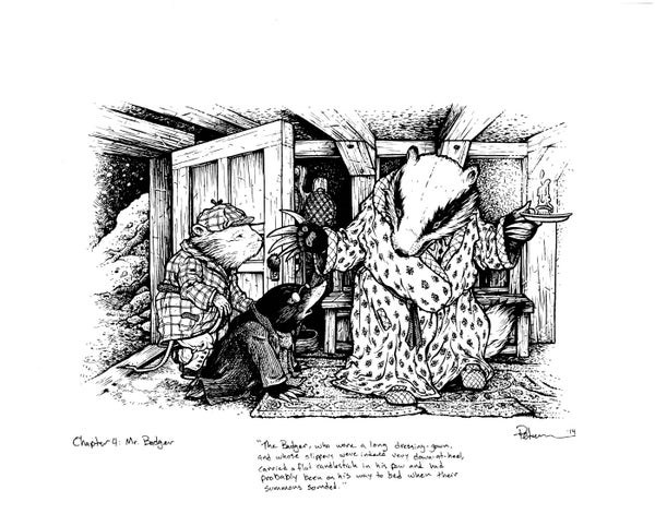 Image of Wind in the Willows pg 44 Original Art