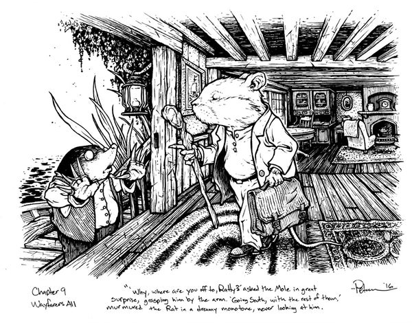 Image of Wind in the Willows pg 130 Original Art