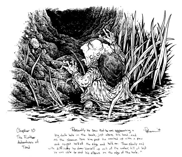 Image of Wind in the Willows pg 149 Original Art
