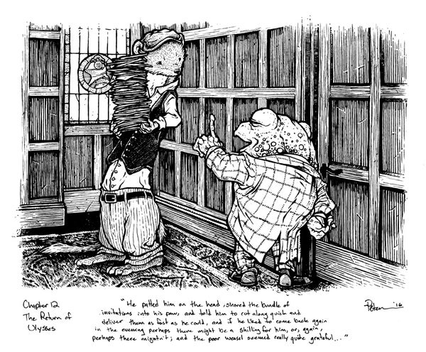 Image of Wind in the Willows pg 178 Original Art