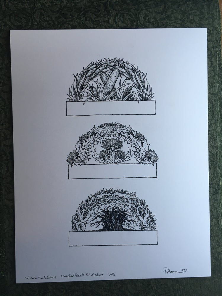 Image of Wind in the Willows Chapter 1-3 Header Original Art