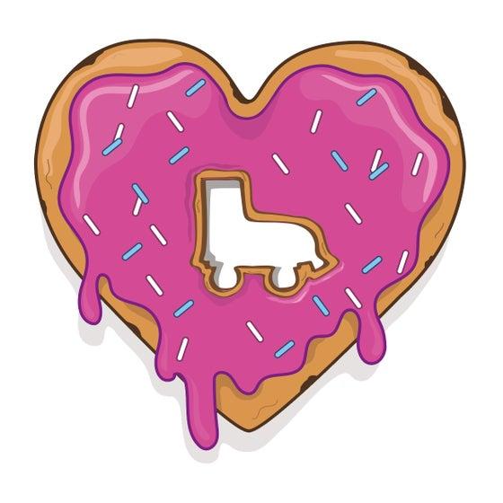 Image of Heart doughnut sticker