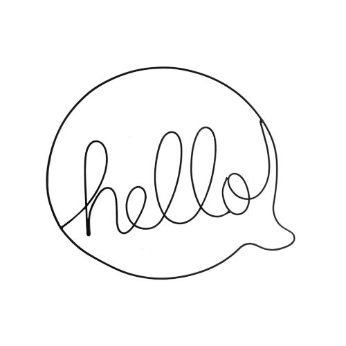 Image of Wire hello speech bubble
