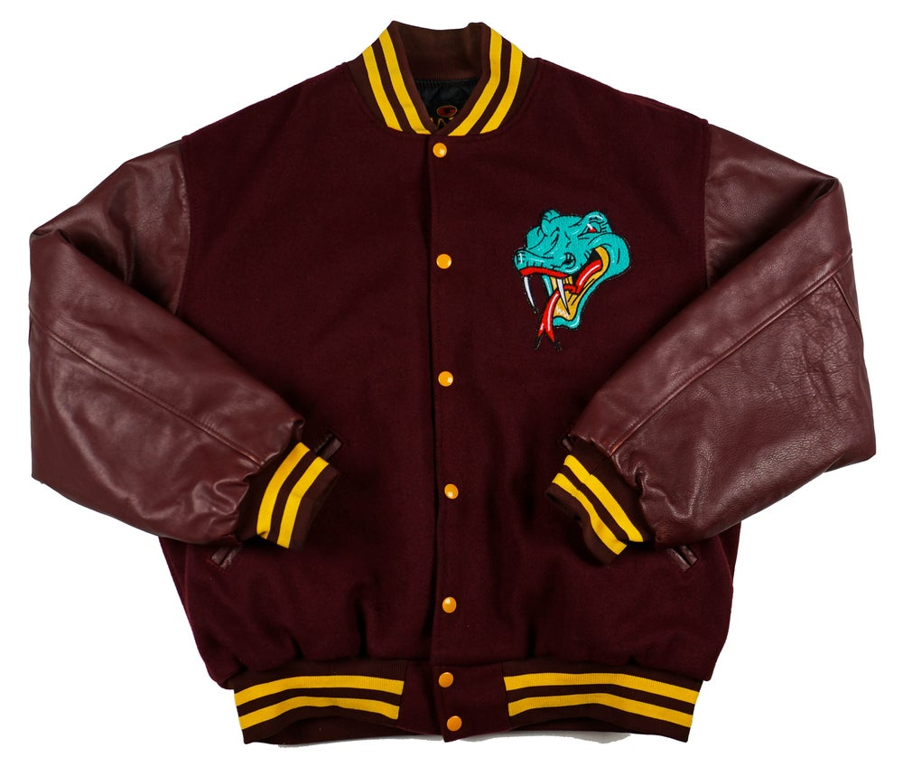 Image of Detroit Vipers Maroon Varsity jacket by Game