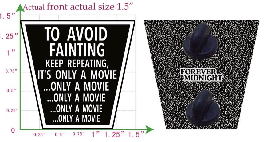 """Image of """"It's Only A Movie"""" Enamel Pin"""
