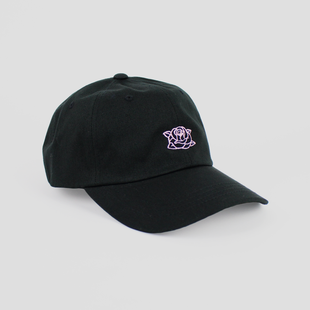 Image of SWARM ROSE CAP (BLACK/PINK)