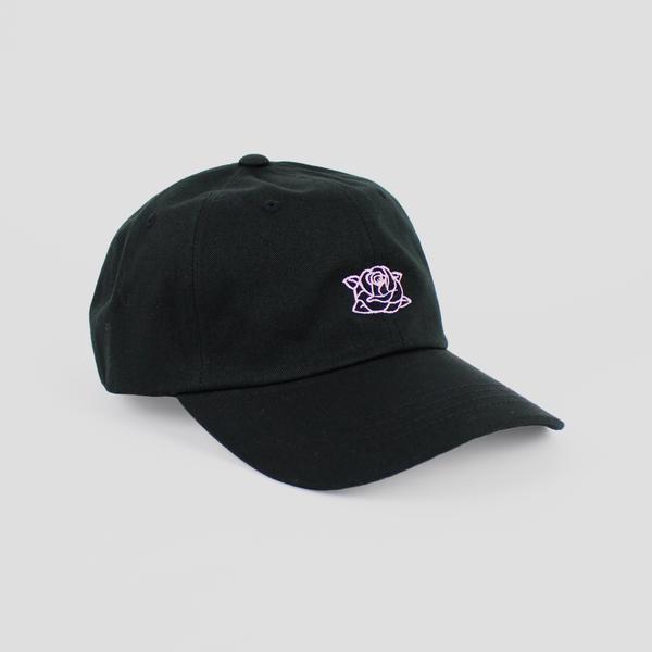Image of SWARM ROSE CAP (BLACK/PINK)