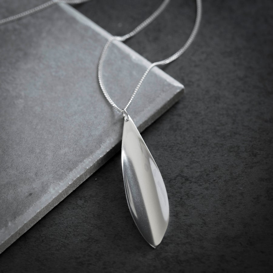 Image of Silver Leaf Necklace