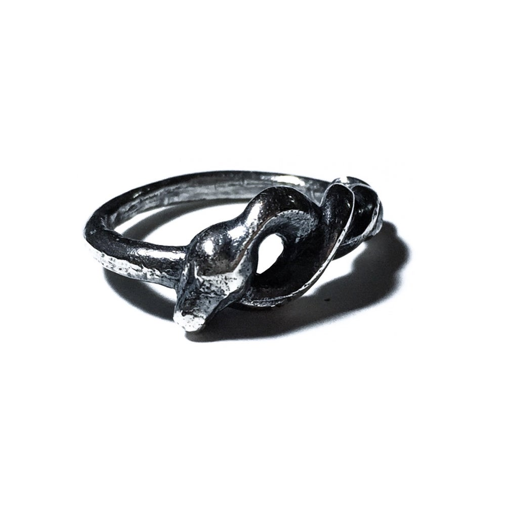 Image of Ouroboros ring in sterling silver
