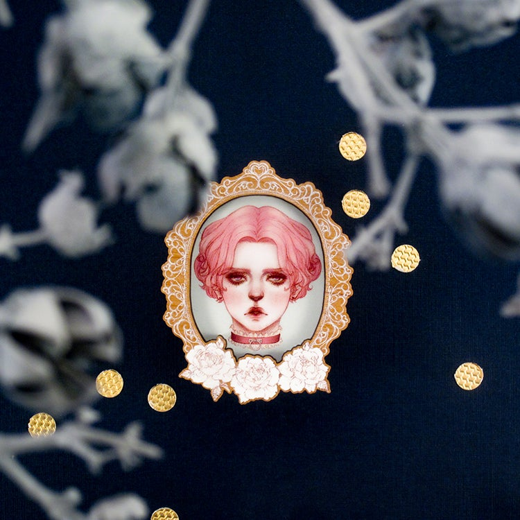 Image of Morbid Rose - Cameo Brooch