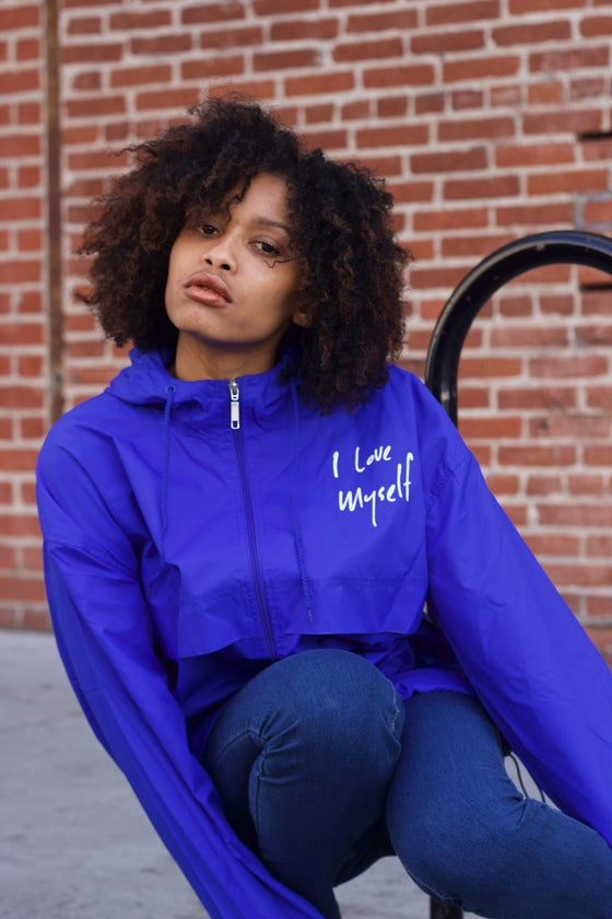 Image of Blue I Love Myself Windbreaker