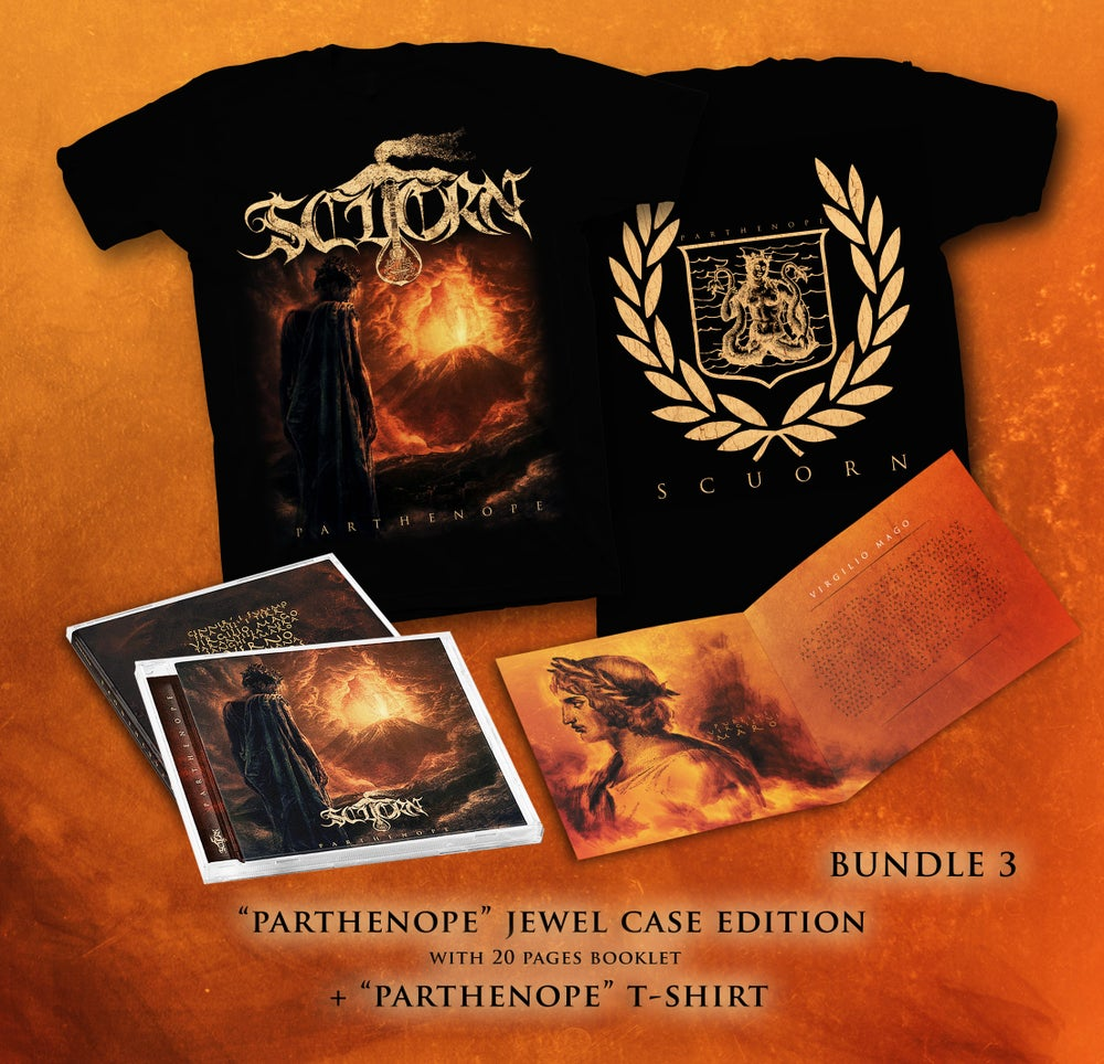 Image of PARTHENOPE BUNDLE 3 : JEWEL CASE CD + T-SHIRT